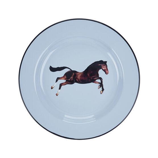 Horse enamel plate