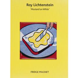 Mustard on White magnet