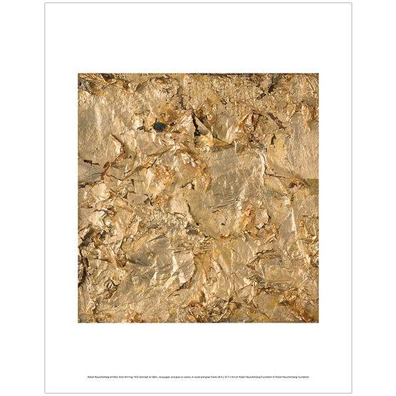 Robert Rauschenberg Untitled (Gold Painting) (mini print)