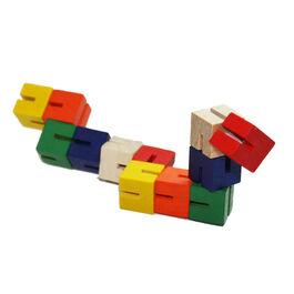 Twist and lock wooden blocks