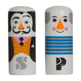 Modern artists salt and pepper pots