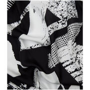 Laura Slater monochrome silk scarf