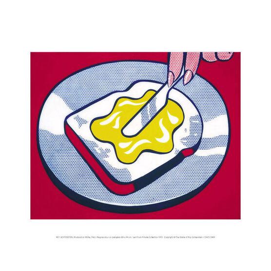 Lichtenstein Mustard on White (mini print)