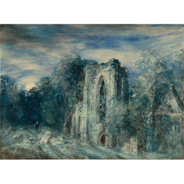 Constable: Netley Abbey by Moonlight