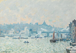 Sisley: View of the Thames: Charing Cross Bridge