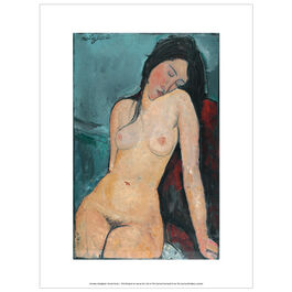 Modigliani Female Nude exhibition print