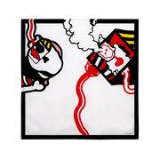 Antonio Dias red lines silk scarf