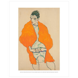 Egon Schiele: Standing Male Figure (self-portrait) mini print