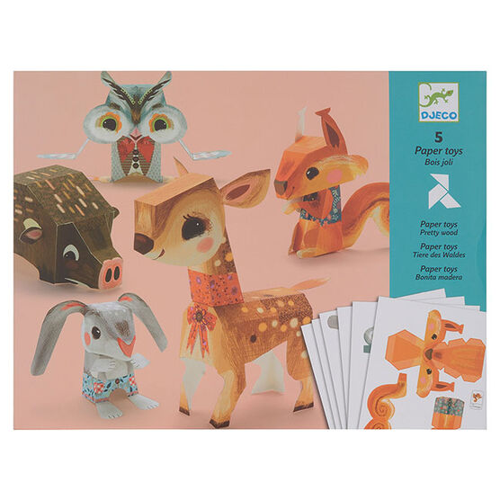 Paper pretty woodland toys