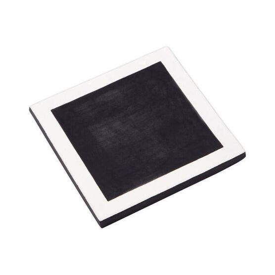 Square ceramic trivet black