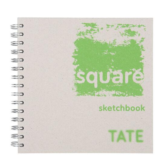 Green hardback square sketchbook