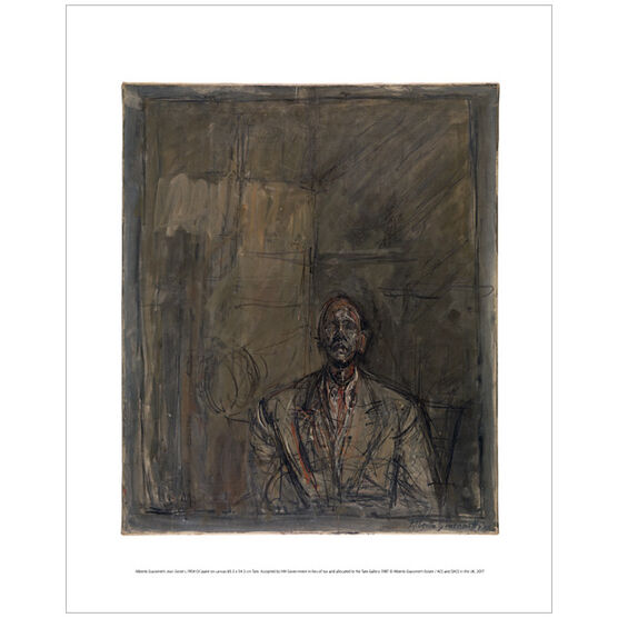 Alberto Giacometti Jean Genet (mini print)