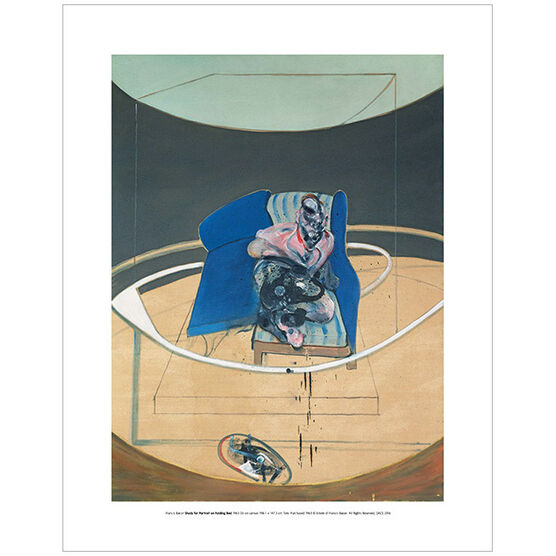Francis Bacon: Study for Portrait on Folding Bed 1963 (mini print)