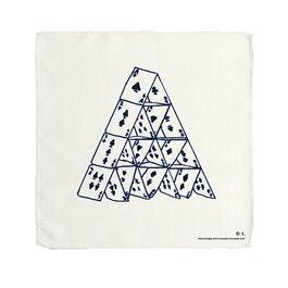 David Shrigley House of Cards handkerchief