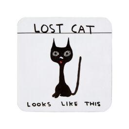 David Shrigley Lost Cat coaster