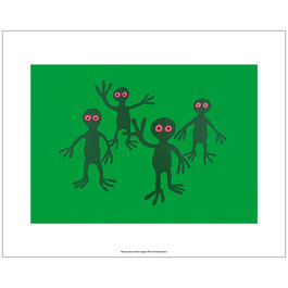 Monro Green Figures (unframed print)