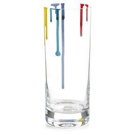 Artist paint drip glass