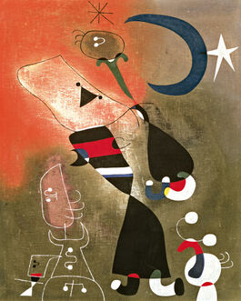 Miro: Women and Bird in the Moonlight