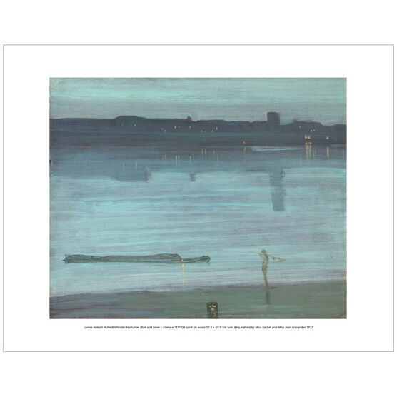 Whistler Nocturne: Blue and Silver - Chelsea (mini print)