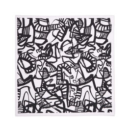 Patrick Heron Monochrome cotton handkerchief