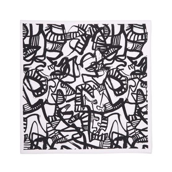 Patrick Heron Monochrome cotton handkerchief