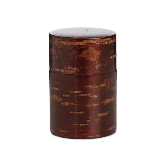 Cherry bark polished tea caddy