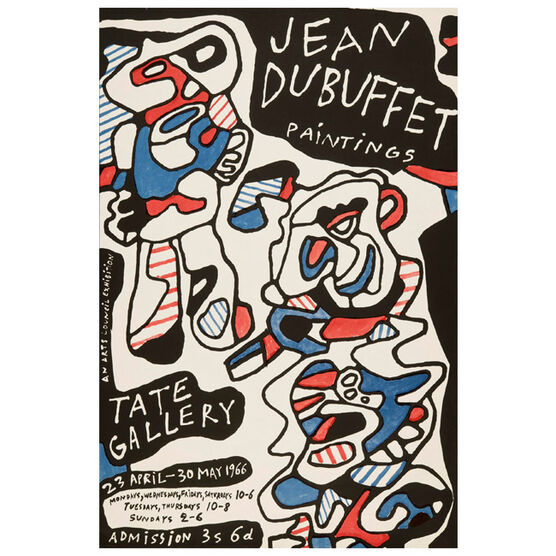 Jean Dubuffet Paintings (Tate Vintage Poster Reproduction)