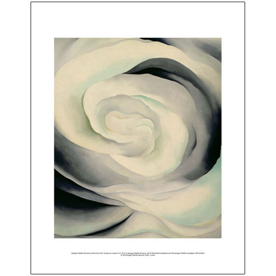 Georgia O'Keeffe Abstraction White Rose (mini print)