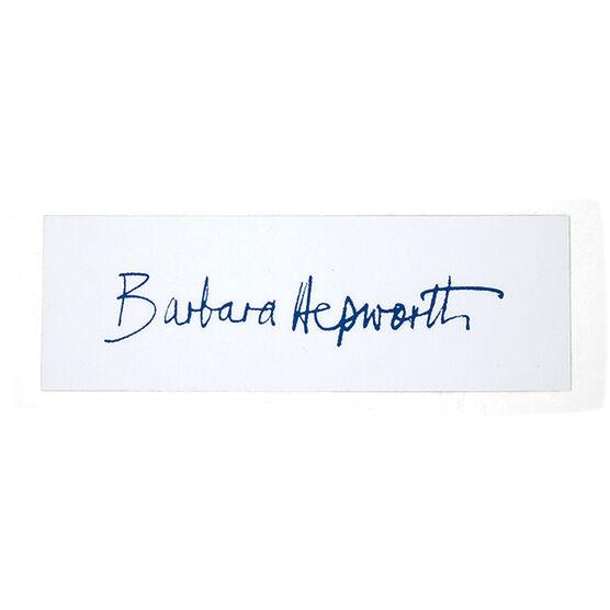 Barbara Hepworth signature bookmark
