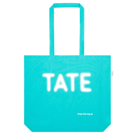 Large Turquoise Tate bag for life
