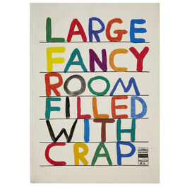 David Shrigley Fancy Room tea towel