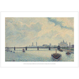 Pissarro Charing Cross Bridge, London (poster)
