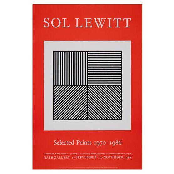 Sol Lewitt: Selected Prints 1970-1986 vintage poster