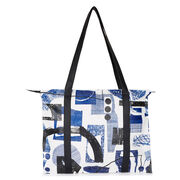 Laura Slater cobalt blue leather tote bag