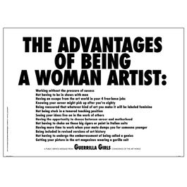 Guerrilla Girls The Advantages of Being a Woman Artist (poster)
