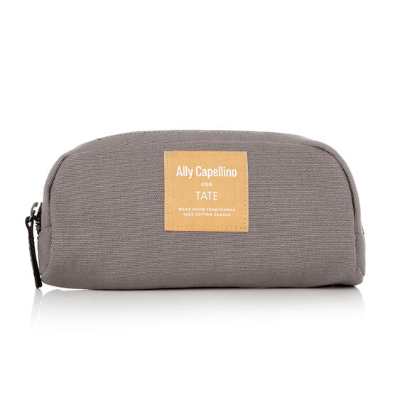 Grey/Orange Ally Capellino pencil case