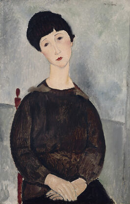 Modigliani: Black Hair (Young Dark-Haired Girl Seated)