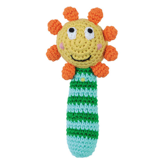 Ruth Green sunflower rattle