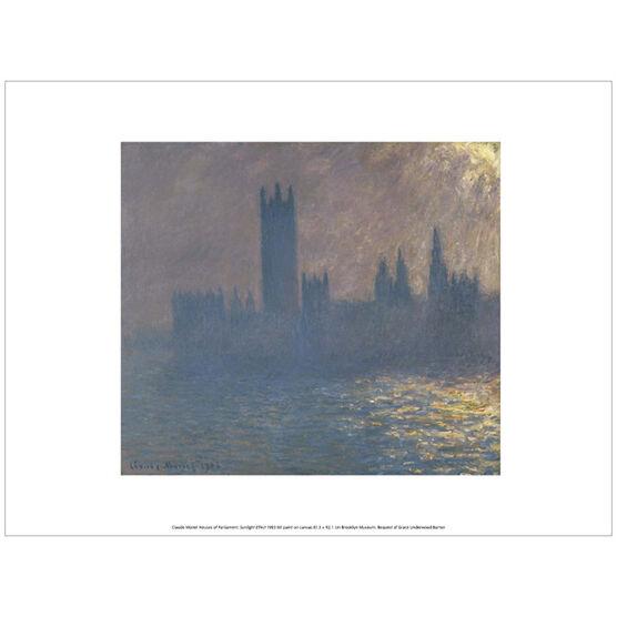 Monet Houses of Parliament, Sunlight Effect (exhibition print)