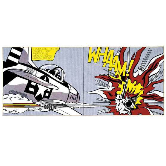 Lichtenstein Whaam! (Screen print)