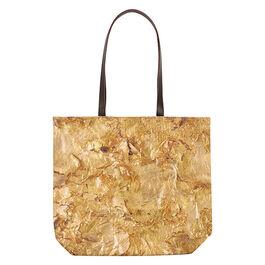 Rauschenberg inspired gold bag