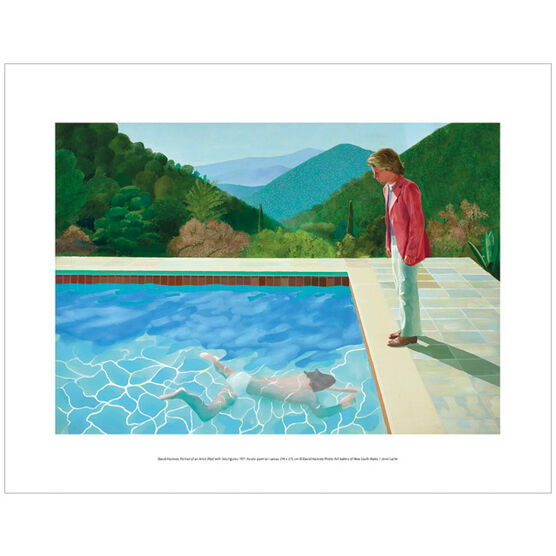 David Hockney Portrait of an Artist Pool with Two Figures  (mini print)