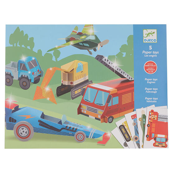 Vehicle paper toys