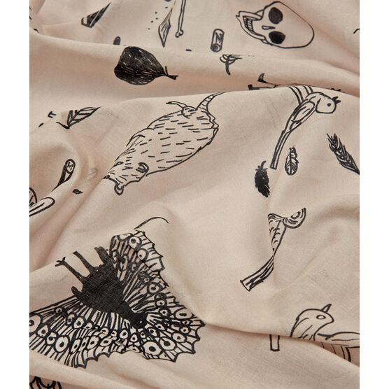 David Shrigley Bird cotton scarf