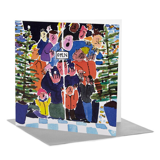 Tate RCA Christmas card William Davey - Shoppers (Pack of 6)
