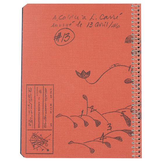 Calder red A5 notebook