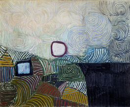 Victor Pasmore: Spiral Motif in Green, Violet, Blue and Gold: The Coast of the Inland Sea