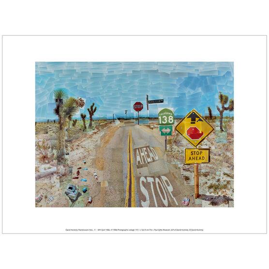 David Hockney Pearblossom Highway  (exhibition print)