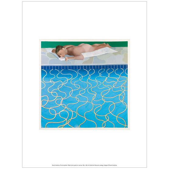 David Hockney The Sunbather  (exhibition print)