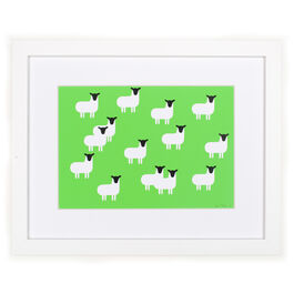 Monro Sheep (framed print)